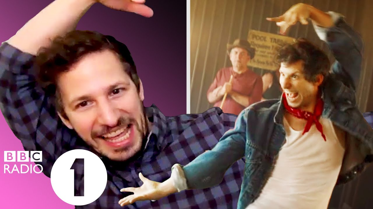 """""""Monster dab!"""" Andy Samberg on Palm Springs dancing, Brooklyn 99 shout-outs and Popstar wolf attacks"""