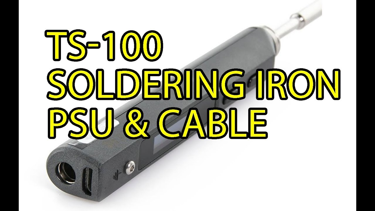 TS100 Soldering Iron Power Supply & Cable Mod - YouTube