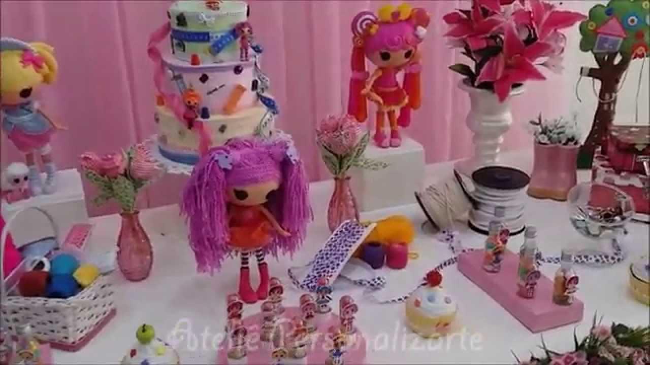 Decoração Youtube ~ Decoraç u00e3o de festa infantil Lalaloopsy YouTube