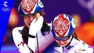Short Track Speed Skating | Ladies' 3000m Relay Highlights | Pyeongchang 2018 | Eurosport