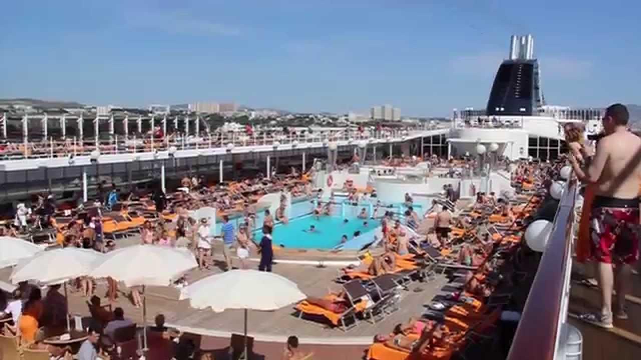 MSC Lirica Pool Deck Fun and Activities  YouTube