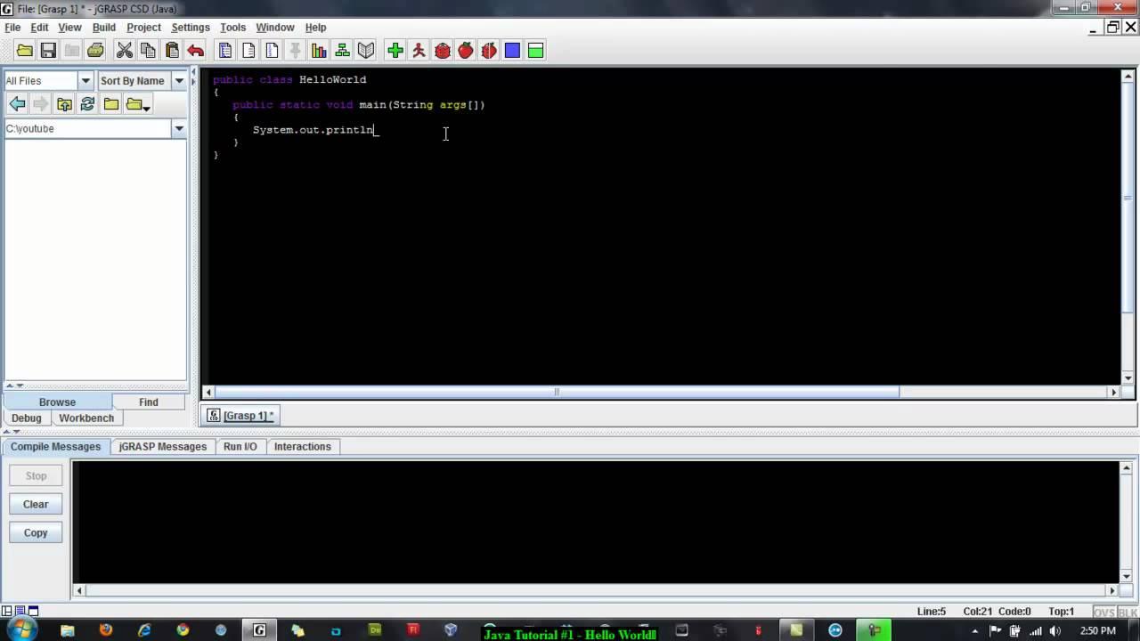 how to run java hello world program