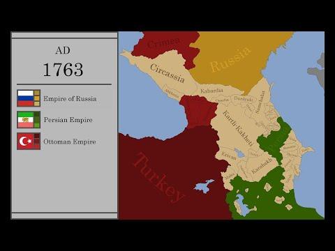 История КАВКАЗА на карте за 10 минут