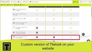 Custom verion of Tilelook on your website