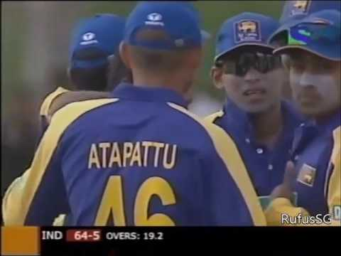Suresh Raina's first international innings, vs Sri Lanka 2005