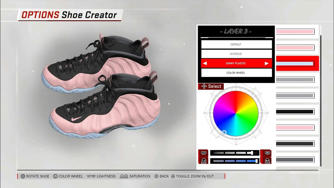 8801ed5dce4 Elemental Rose Nike Foamposite Ones for NBA 2K18 - YouTube