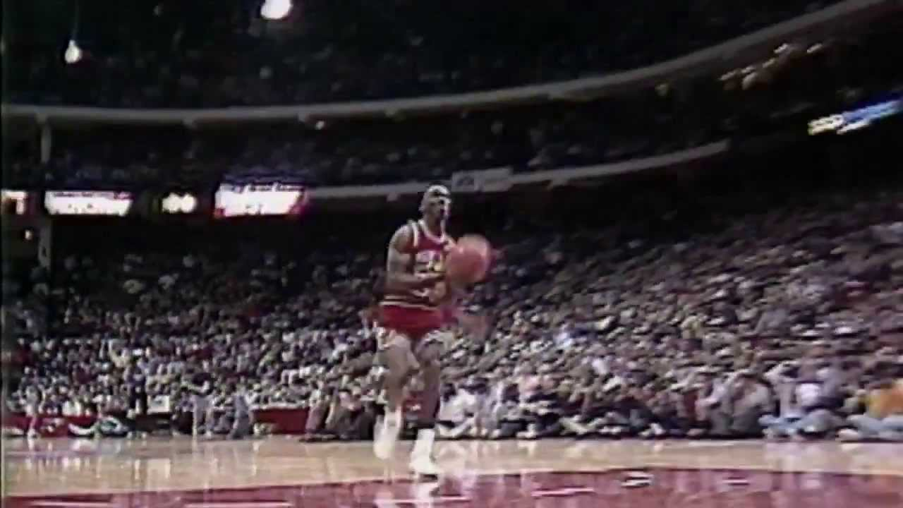 89c760c95f8e 1988 Dunk Contest  Michael Jordan Soars from Foul Line - YouTube