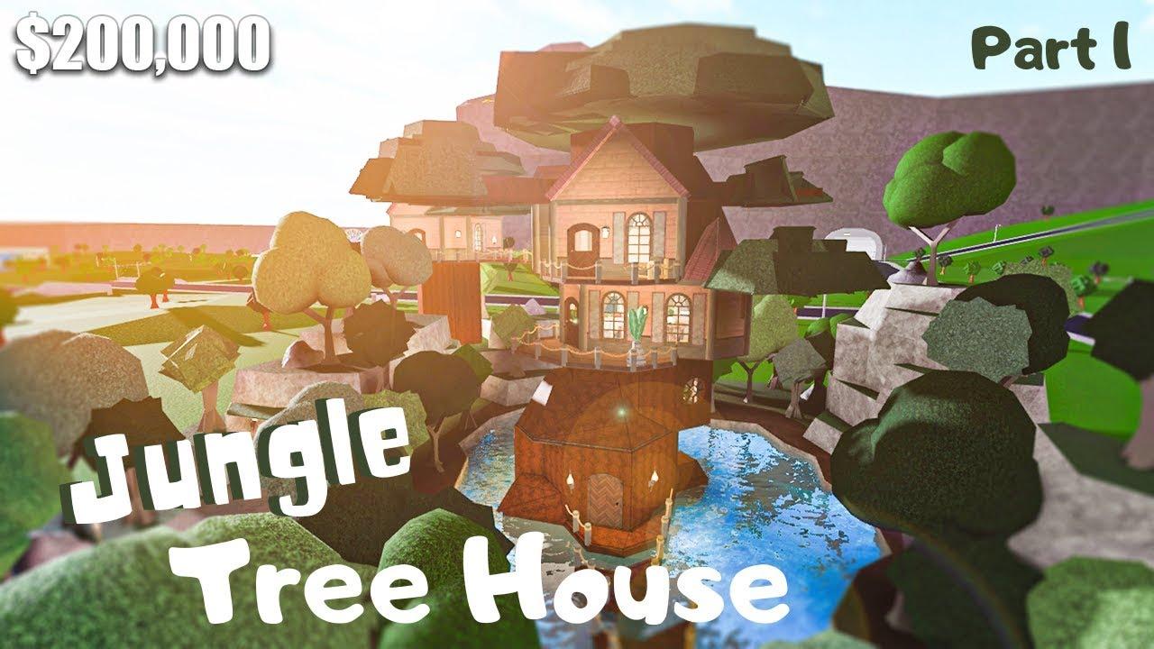 Bloxburg Jungle Tree House House Build Roblox Part 1 2