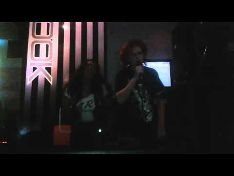 Cum on feel the noize. Hayley k. Spree and chebo karaoke