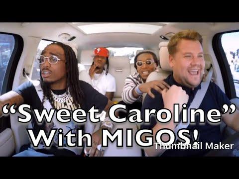"MIGOS KILLS ""SWEET CAROLINE"" with James Corden!!"