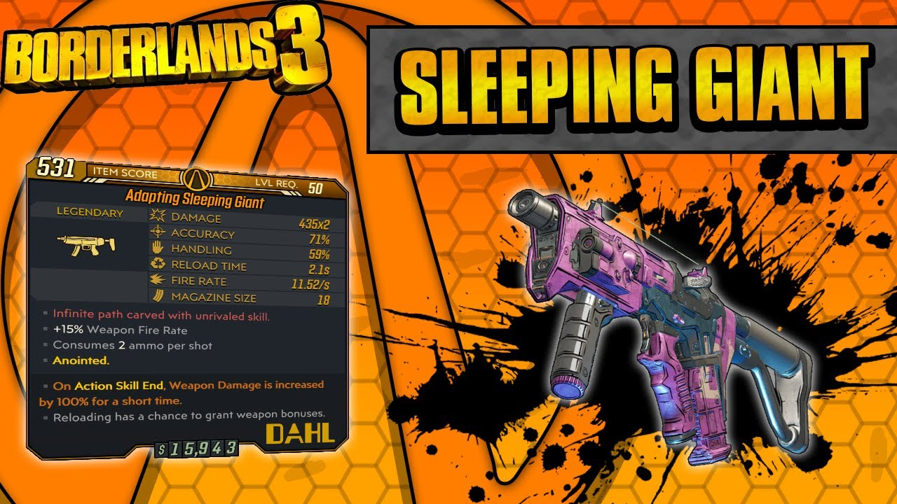 Borderlands 3 | Sleeping Giant Legendary Weapon Guide (Reload Bonuses!) thumbnail