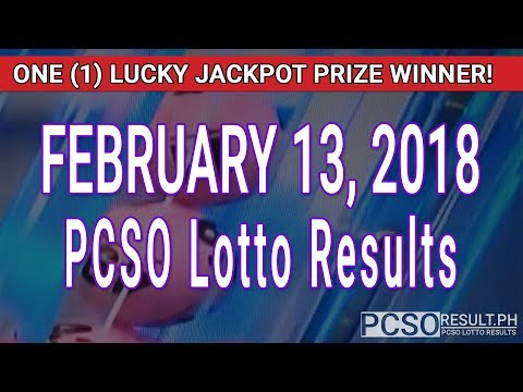 PCSO Lotto Results Today February 13, 2018 (6/58, 6/49, 6/42, 6D, Swertres, STL & EZ2)