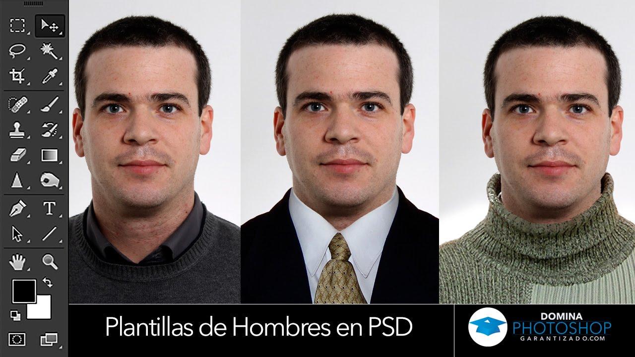Plantillas de Trajes de Hombres en PSD - YouTube