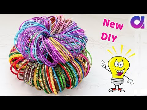 How to reuse old bangles at home | Best out of waste | Artkala