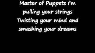 Metallica - Master of Puppets lyrics