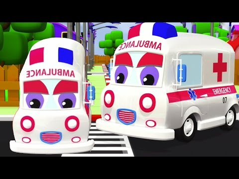 xe cứu thương   hình thành và sử dụng   3D dành cho trẻ em xe phim hoạt hình   Formation   Ambulance