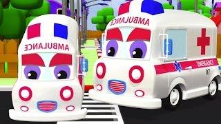 xe cứu thương | hình thành và sử dụng | 3D dành cho trẻ em xe phim hoạt hình | Formation | Ambulance