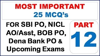 Most Expected Current Affairs' Questions For Upcoming Exams(Part- 12)!! - Study Capsule