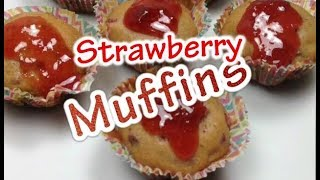 How to Make Strawberry Muffins at Home Without Oven. English-Urdu recipe by Recipes Mix
