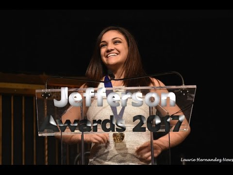 Laurie Hernandez - Accepts the Jefferson Award (03/15/17)