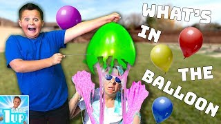 WHAT'S IN THE BALLOON CHALLENGE Part 2!! 😂 🎈