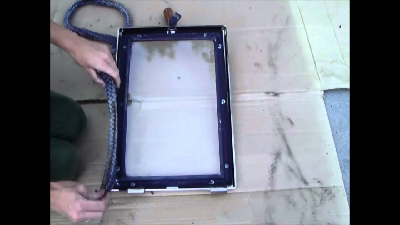 How to Replace a Wood Stove Door Rope Gasket - YouTube