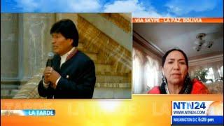 """""""Evo Morales realmente está encaprichado en volver a Bolivia"""": Tomasa Yarhui"""