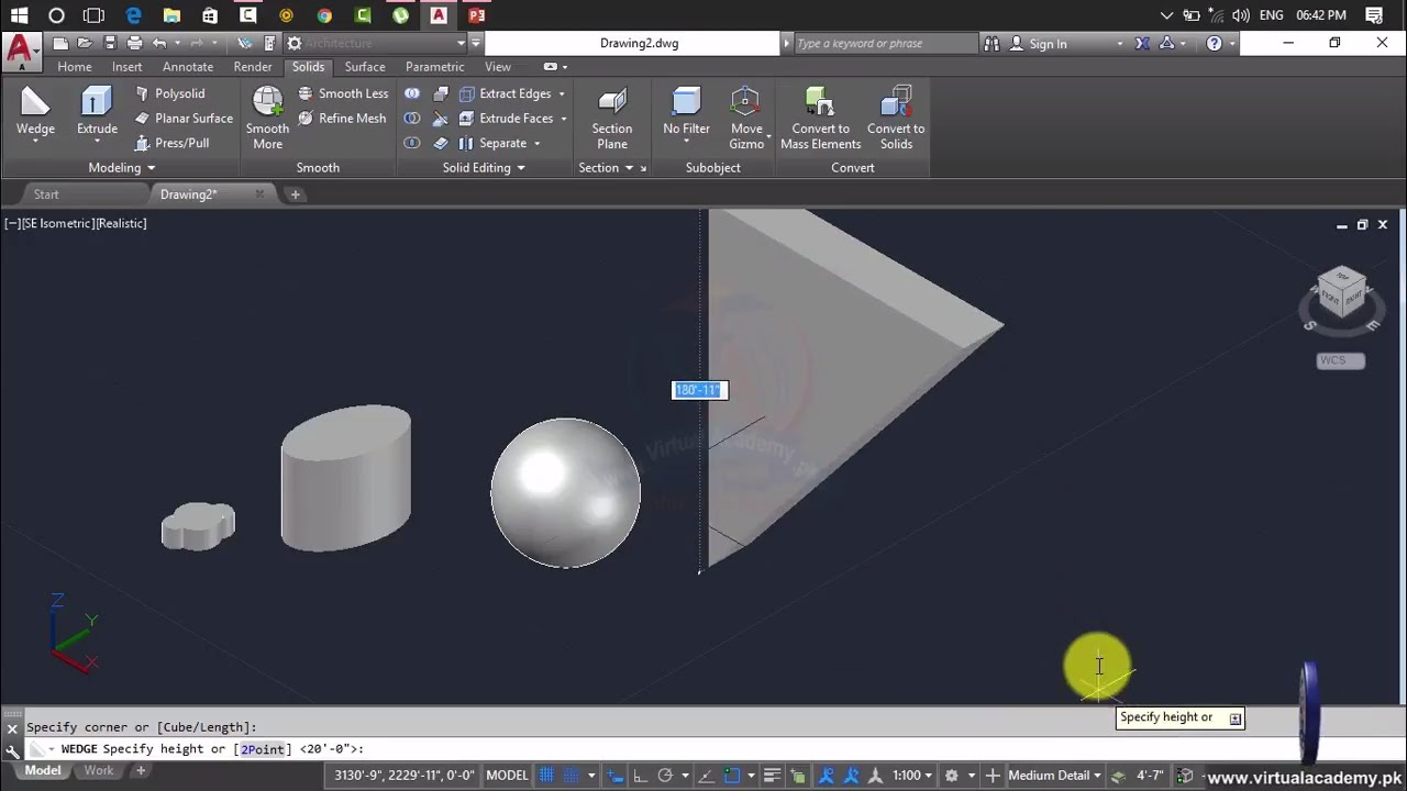 Drawing Smooth Lines In Autocad : Autocad d modeling how to draw different shapes in