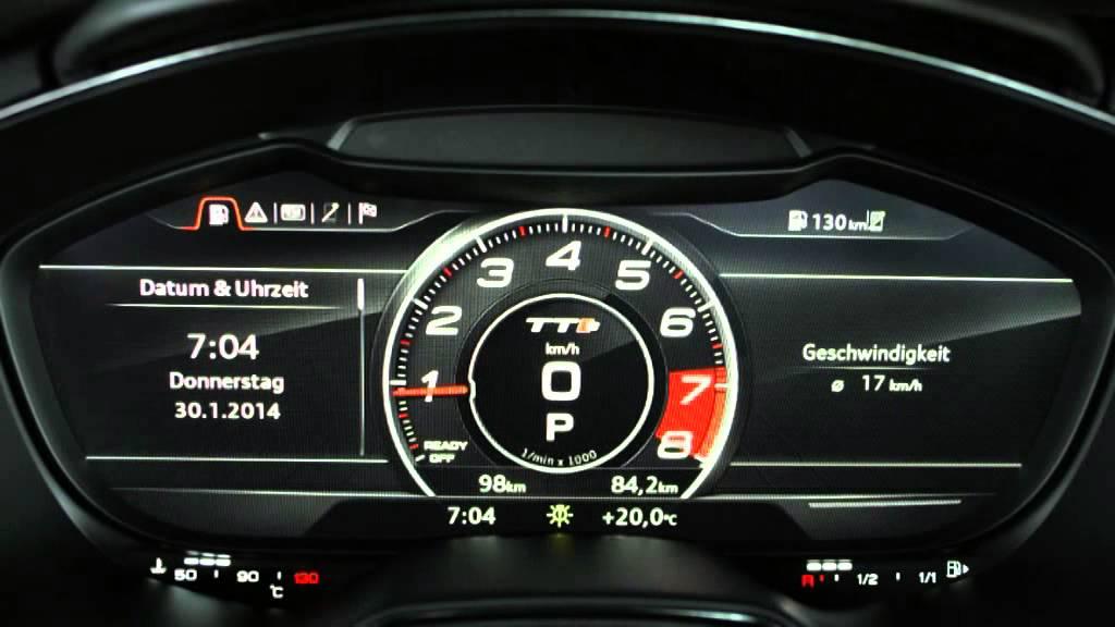 2014 Audi Tts Mmi Display Youtube