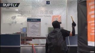 [Hong Kong] Protesters keep vandalizing railway stations