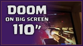 "Xbox One on 110"" projector (Doom gameplay)"