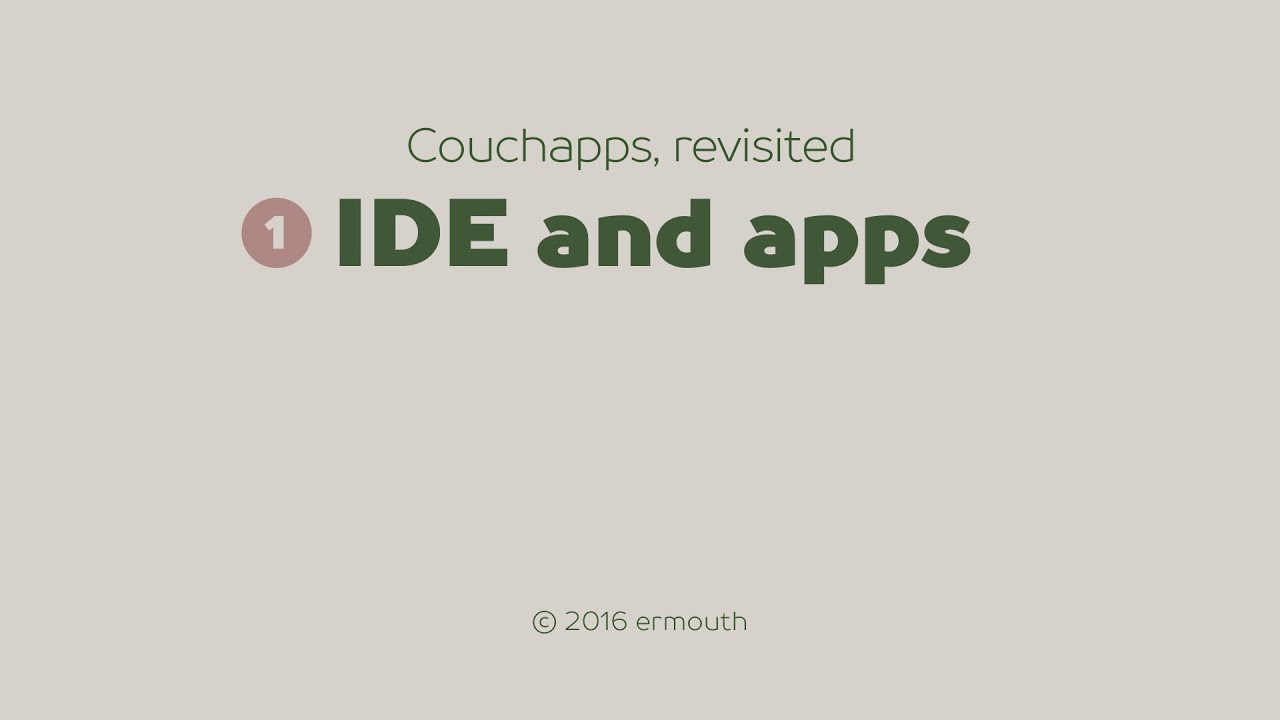 Couchapps, revisited