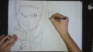 Speed Drawing: Naruto and Sasuke (Part 1 - Lineart) #1