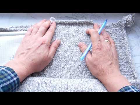 Как я вяжу окат рукава!