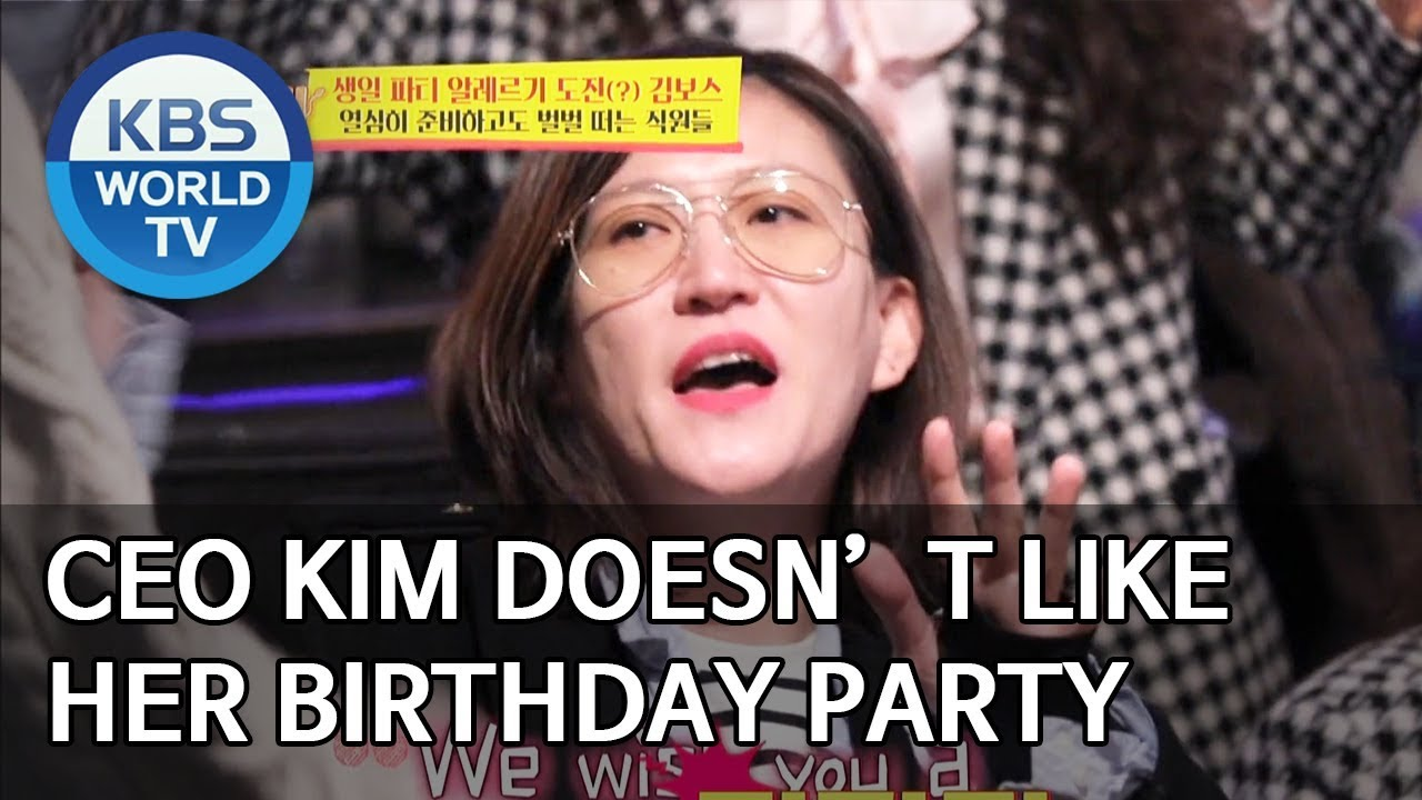 Ceo Kim Doesn T Like Her Birthday Party Boss In The Mirror Eng 2020 01 12
