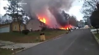 Plane crashes into house in Atlanta suburb