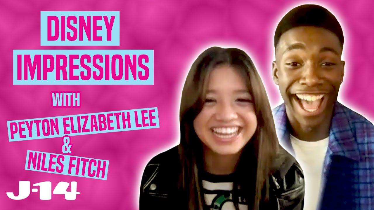 Secret Society of Second-Born Royals Stars Peyton Elizabeth Lee & Niles Fitch Do Disney Impressions