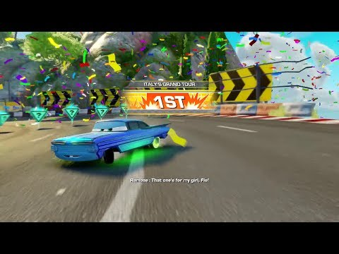 Cars 3: Driven to Win (PS4) - Playing as Ramone on Italy's Grand Tour (Subscriber Request)