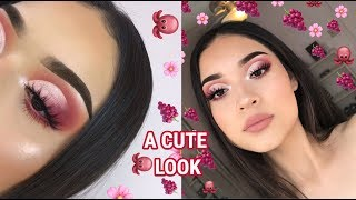 A Cute Cranberry Cut Crease Tutorial
