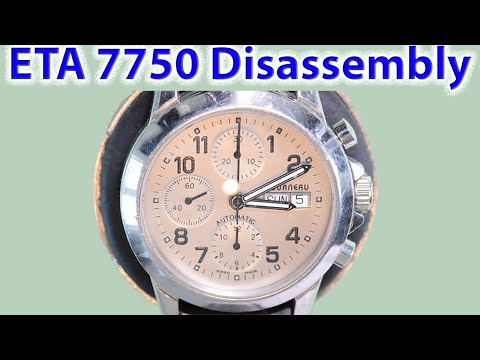 ETA 7750: Part 1 -  Disassembly