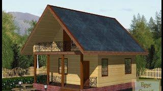 видео Сколько кубов бруса понадобиться на строительство дома