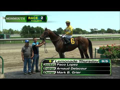 video thumbnail for MONMOUTH PARK 6-22-19 RACE 2