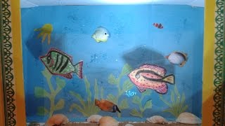 Поделки с детьми.делаем аквариум из бумаги