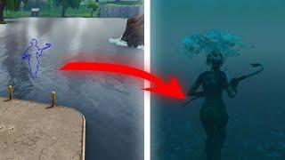 Comment obtenir sous l'eau dans le lac New Loot -Fortnite Glitch