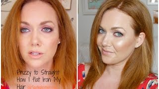 Frizzy to Flat Ironed: Styling The Lob - Straight