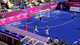 Football 5-a-side - BRA vs CHN - 1st half - Men's - B1 Prelims - London 2012 Paralympic Games