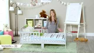 Orbelle Contemporary Solid Wood Toddler Bed - Gray - Product Review Video