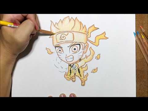 Draw Anime | สอนวาดรูป การ์ตูน นารูโตะ โหมด เก้าหาง Naruto | Ep 03 ระบายสี