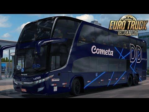 Euro Truck Simulator 2 - Bus | Cometa - São Paulo/Ribeirão - Detail + EAA