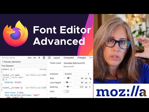 Firefox Font Editor — Advanced